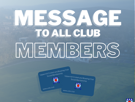 Message to All Club Members