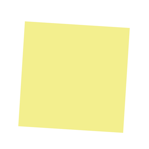 Light Yellow Square on White