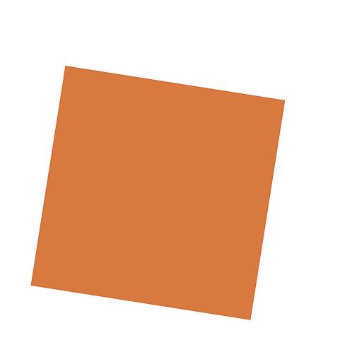 Orange Square on White
