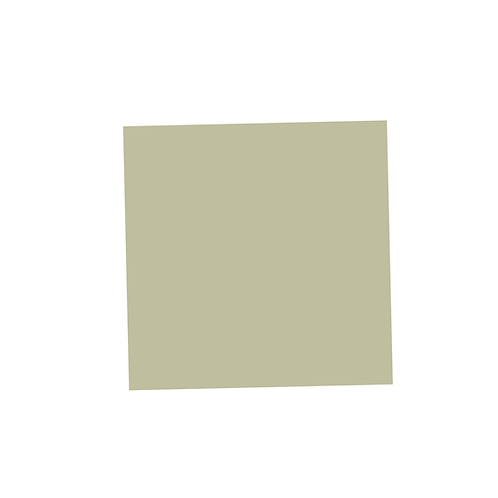 Pale Green Square on White