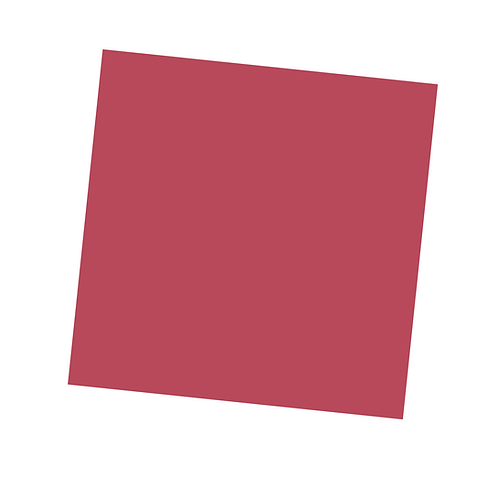 Pale Red Square on White