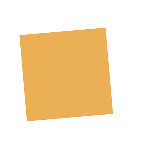 Pale Orange Square on White