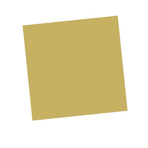Dark Yellow Square on White