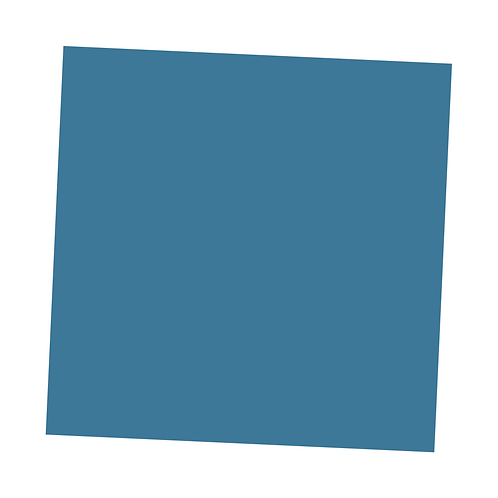 Pale Blue Square on White