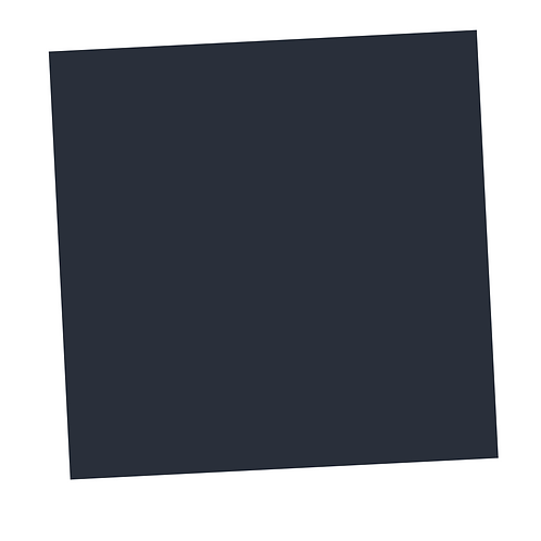 Grey-Blue Square on White