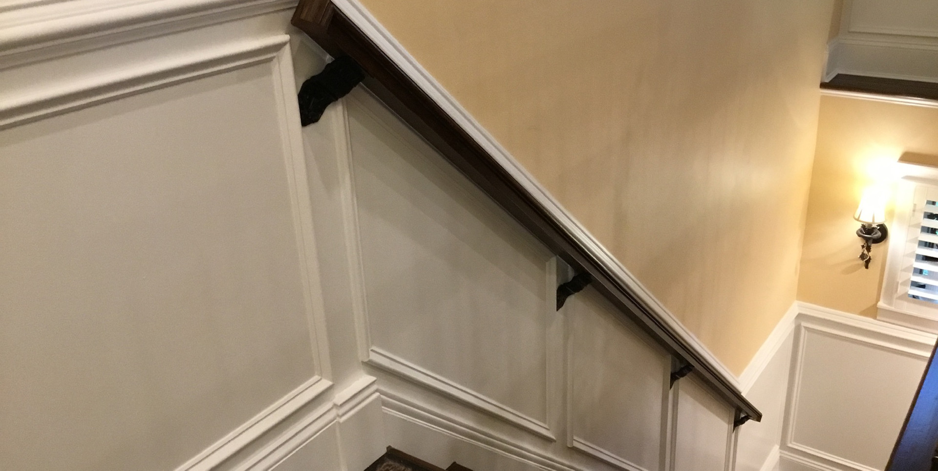 Basement Stairs With Wainscoting