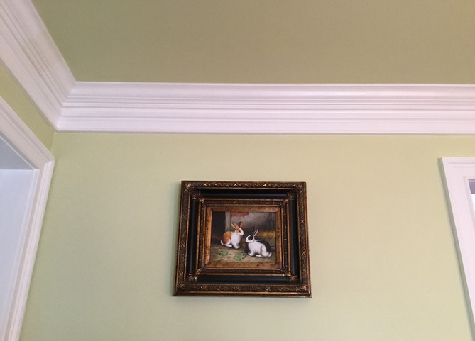 Painted Wall With Crown Molding
