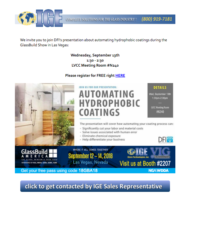 Newsletters   IGE Glass Technologies complete glass