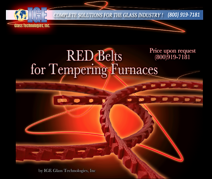 Red Belts chain link for Tempering Furnaces