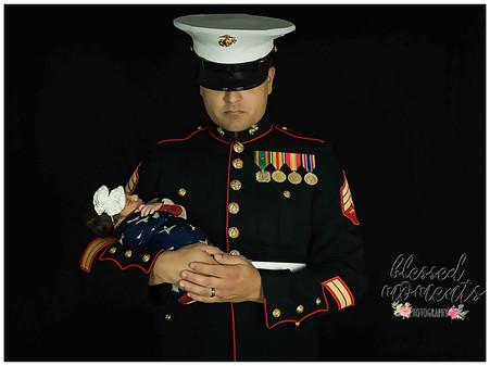 Uniform newborn Photography
