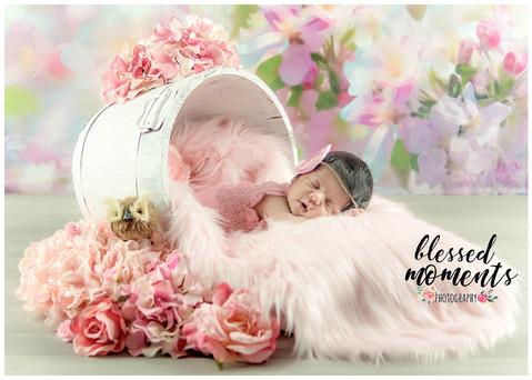 Floral newborn photography
