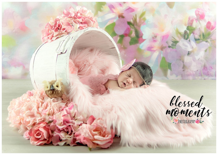 Floral newborn photography