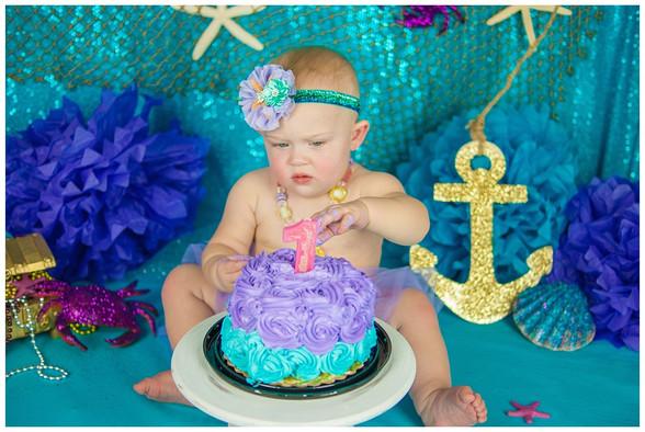 Under the sea Smash Cake Photography