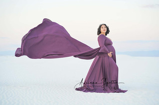 Grape Jersey Skirt with Belle Sleve Top
