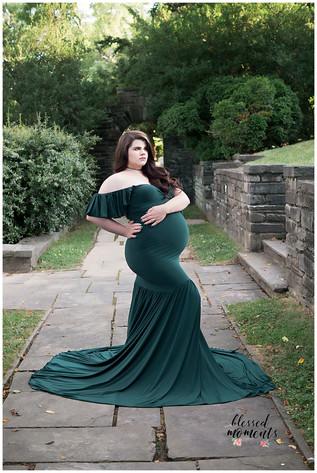 Hunter Green Mermaid gown