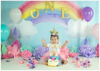 Unicorn Smash Cake Photos