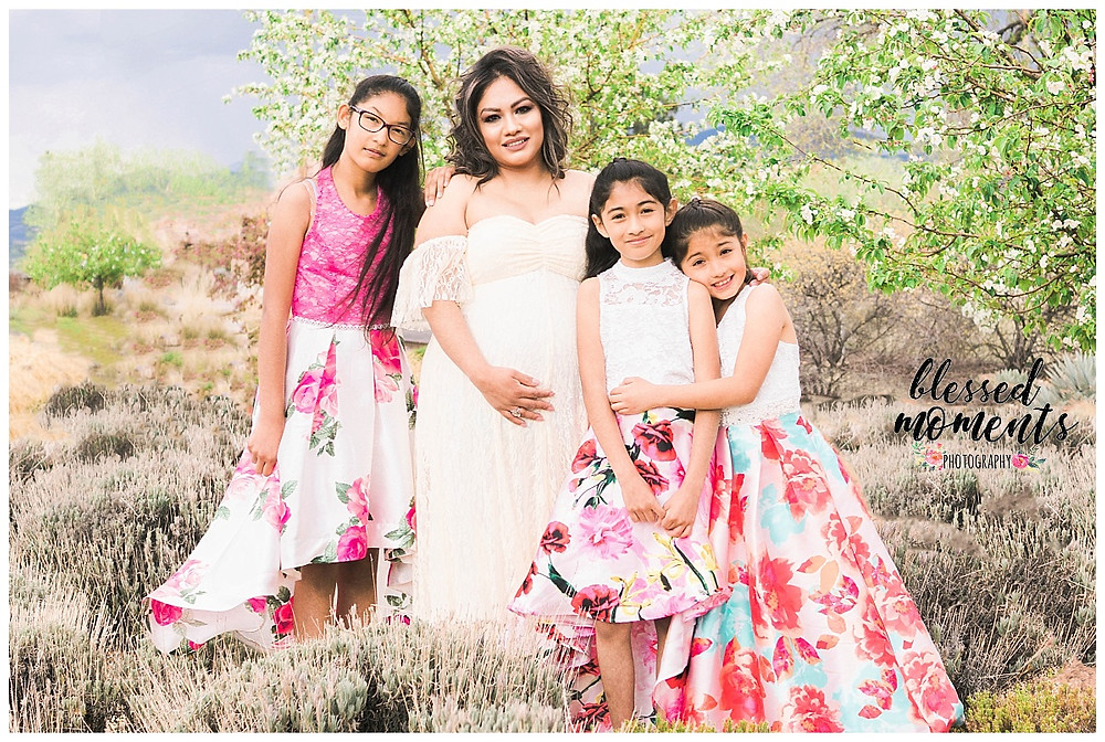 Family photo and maternity session taken in Railyard Park Santa Fe NM