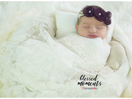 Newborn Photos - White Lace