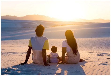 White Sands Family Sunset Photos