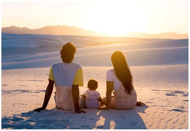 White Sands Family Sunset Photos