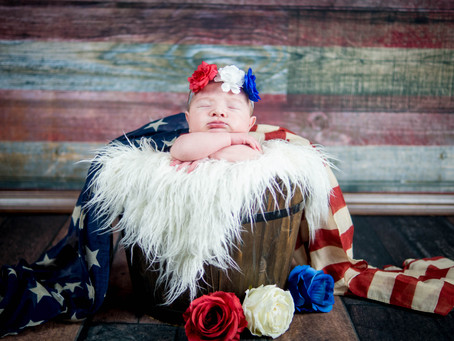 Newborn Session - Raelynn - All American girl