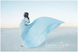 Baby Blue Maternity gown