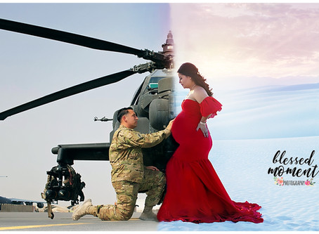 Maternity - Maria H. - Maternity session while deployed