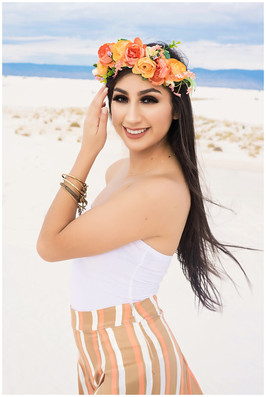 White Sands San Antonio Senior Photo Session