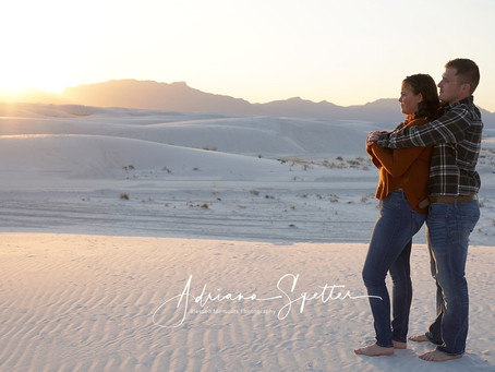 Couple and family photography at White Sands