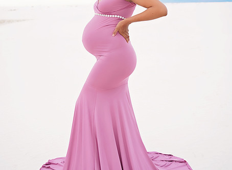 Rishawna - Mauve Maternity Gown at White Sands