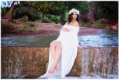 Alamogordo Maternity Photography Creek