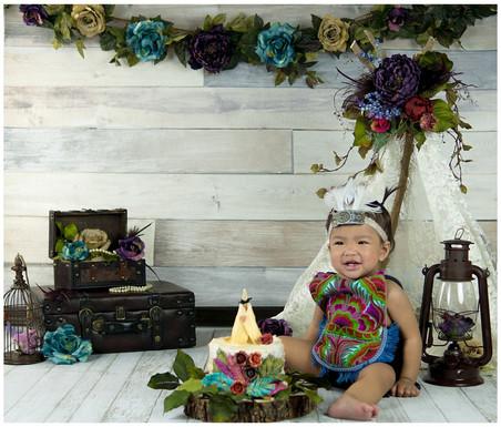 Floral Boho Smash Cake photos