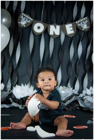 Raiders Football Birthday Session