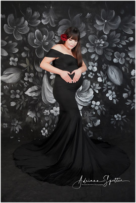 Black Convertable Maternity Gown