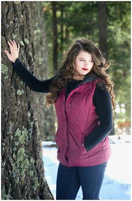 Cloudcroft Snow Senior Photography