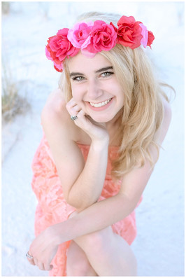 White Sands Summer Senior Photo Session
