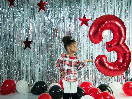 Milestone 3rd birthday shoot