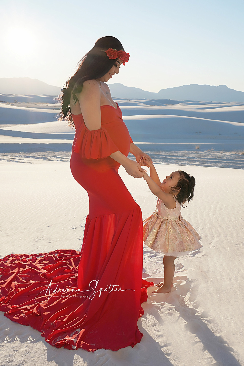 Mother and daughter at White Sands.