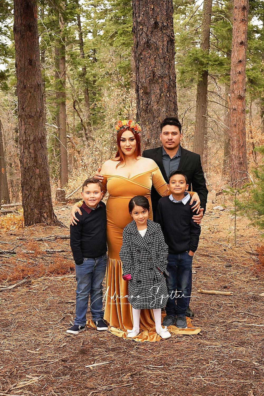 El Paso TX family photos taken in fall in Cloudcroft NM,