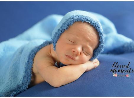 Newborn photo session for Josef