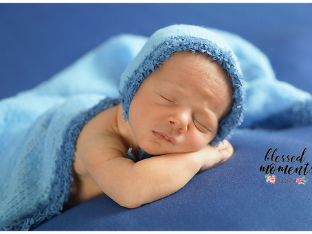 Newborn photo session for Josef