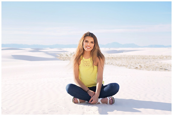 White Sands Scenic Senior Photos