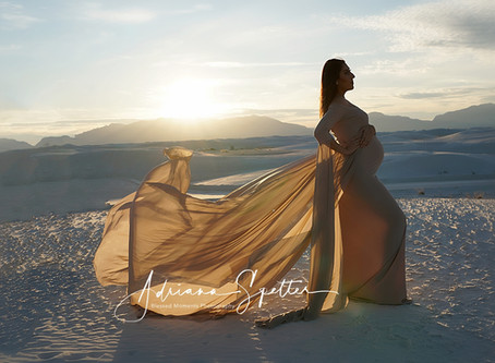 Lily - Taupe Maternity gown at White Sands