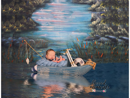 Newborn - gone fishing