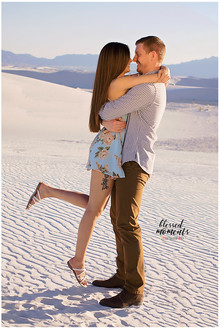 White Sands Couple Photos