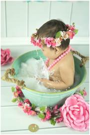 Baby Milk Bath Photos
