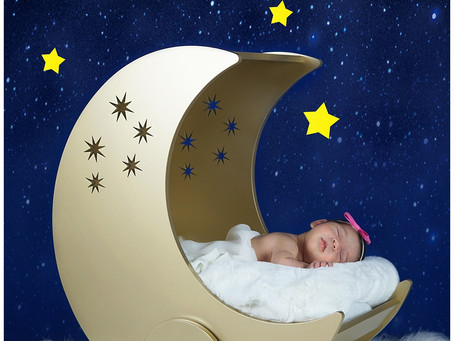 Newborn - Mila - Stars and Moon