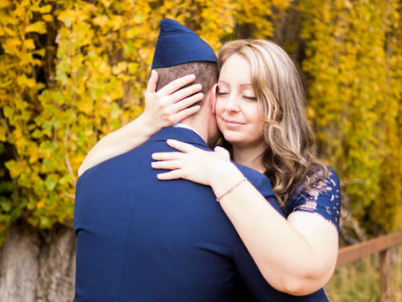 Couple Shoot - Cresta and Thomas - Fall and Uniform