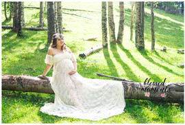 White lace maternity gown