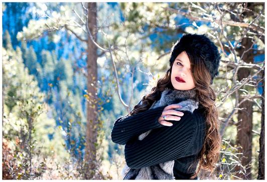 Cloudcroft Forest Senior Photography